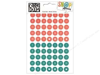 Alphabet Stickers / Number Stickers: Simple Stories Collection Carpe Diem Snap Sticker Number