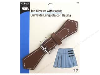 Buckles: Dritz Buckle Tab Closure With Buckle Tan/Silver