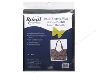 Bosal In-R-Form Plus Fusible Foam Stabilizer 36 x 58 in. Double Sided Black