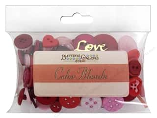scrapbooking & paper crafts: Buttons Galore Button Color Blends 3 oz. Valentine