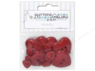 novelties: Buttons Galore Theme Button Red Hearts