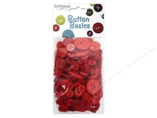 Buttons: Buttons Galore Button Candy Bags 5.5 oz. Red Hot Mix