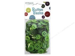 Button: Buttons Galore Button Candy Bags 5.5 oz. Kelly Green