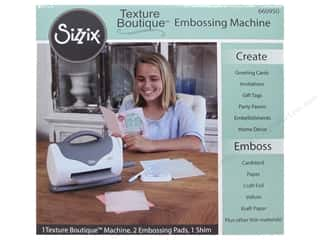 die cutting machines: Sizzix Texture Boutique Embossing Machine - White & Gray