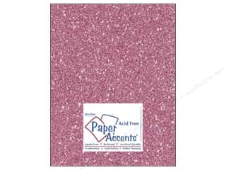 scrapbooking & paper crafts: Paper Accents Cardstock 8 1/2 x 11 in. #5105 Glitz Silver/Snapdragon 5 pc.