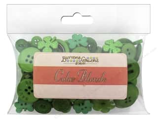 St. Patrick's Day: Buttons Galore Button Color Blends 3 oz. St Patrick's Day