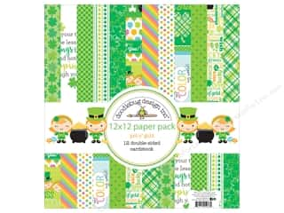 Clearance Coredinations Cardstock Packs: Doodlebug 12 x 12 in. Paper Pack Pot O Gold