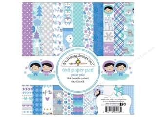 """Bo Bunny Paper Pads 6""""x 6"""": Doodlebug Paper Pad 6 x 6 in. Polar Pals Collection"""