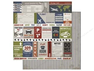 Carta Bella 12 x 12 in. Paper Work Hard Play Hard Travel Labels (25 sheets)