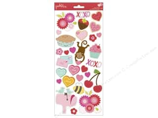 Scrapbooking: Pebbles Sticker Cardstock Be Mine