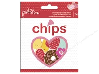 Chipboard Shapes  Flowers: Pebbles Collection Be Mine Chipboard Shapes