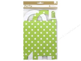 American Crafts DIY Party Treat Boxes 6 pc. Gift Bag Green & White