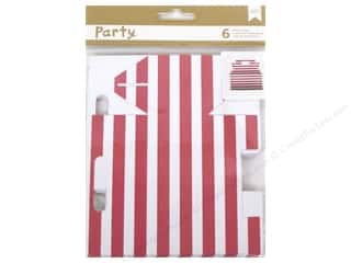 American Crafts DIY Party Treat Boxes 6 pc. Bakery Pink Stripe