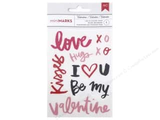 American Crafts Rub-On Transfer Valentine Words