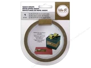 glues, adhesives & tapes: We R Memory Keepers Washi Wraps Kraft