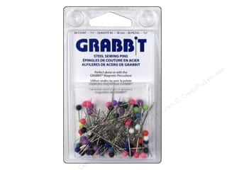Blue Feather Grabbit Steel Sewing Pins 80 pc.