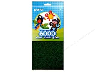beading & jewelry making supplies: Perler Beads 6000 pc. Dark Green