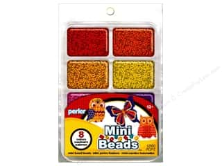 beading & jewelry making supplies: Perler Mini Bead 8000 pc. Warm Assorted Colors Tray
