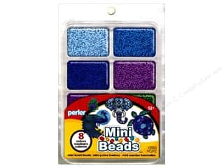 beading & jewelry making supplies: Perler Mini Bead 8000 pc. Cool Assorted Colors Tray