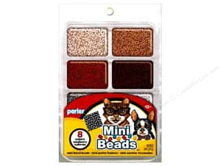 Beading & Jewelry Making Supplies: Perler Mini Bead 8000 pc. Neutral Assorted Colors Tray