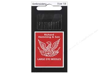 sewing & quilting: Hemming Needle Crewel/Embroidery Size 10 15pc