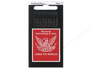 sewing & quilting: Hemming Needle Crewel/Embroidery Size 7 15pc