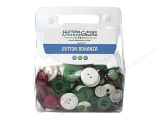 cover button: Buttons Galore Button Bonanza 1/2 lb. Christmas