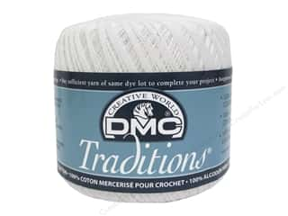 yarn & needlework: DMC Traditions Crochet Cotton Size 10 #B5200 Snow White