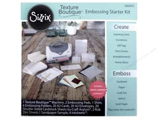 die cutting machines: Sizzix Texture Boutique Embossing Machine Starter Kit