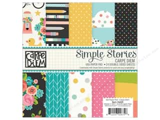 "Bo Bunny Paper Pads 6""x 6"": Simple Stories Collection Carpe Diem Paper Pad 6""x 6"""