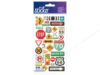 scrapbooking & paper crafts: EK Sticko Stickers Road Signs