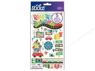 Stickers: EK Sticko Stickers Flip Pack Road Trip