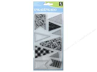Inkadinkado Clear Stamp Set Banners & Flags