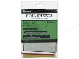 foil: Ranger Foil Sheets 10 pc. Holiday