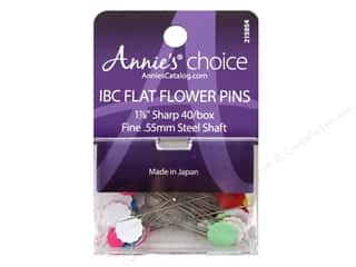 spring: Annie's Choice IBC Flower Head Pins 1 7/8 in. 40 pc.