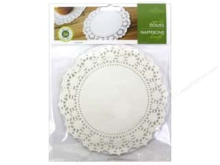 "craft & hobbies: Fox Run Paper Doily 6"" Round 24pc White"