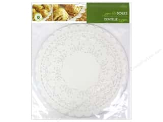 "novelties: Fox Run Craftsmen Paper Doily 12"" Round 12 pc White"