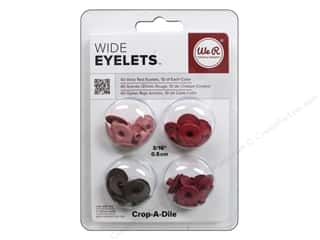We R Memory Keepers Wide Eyelets 40 pc. Red