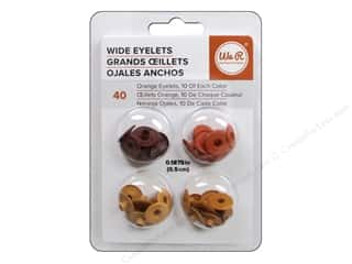 We R Memory Keepers Wide Eyelets 40 pc. Orange