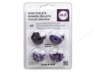 We R Memory Keepers Wide Eyelets 40 pc. Purple