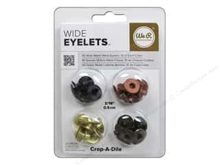 We R Memory Keepers Wide Eyelets 40 pc. Warm Metal