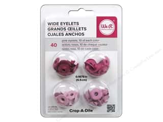 We R Memory Keepers Wide Eyelets 40 pc. Pink