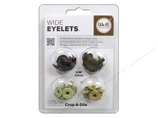 We R Memory Keepers Wide Eyelets 40 pc. Brown