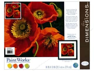 "Dimensions Paint By Number 11""x 11"" Red Poppy Trio"