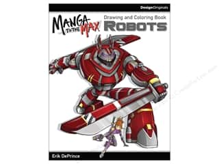 books & patterns: Design Originals Manga To The Max Robots Coloring Book