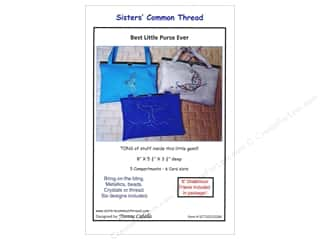 Tote Bags / Purses Patterns: Sisters' Common Thread Best Little Purse Pattern & Frame Gun Metal