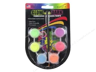 Weekly Specials Scribbles Dimensional Fabric Paint Set: Palmer Acrylic Paint Set 6 Pot Mini Glow In The Dark