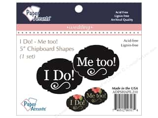 Chipboard: Paper Accents Chipboard Shape I Do/Me Too 1 Set Black
