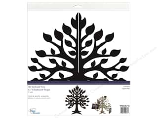 Paper Accents Chipboard Shape 12 in. 3D Stylized Tree 1 Set Black