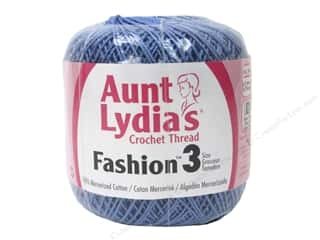 yarn & needlework: Aunt Lydia's Fashion Crochet Thread Size 3 150 yd. #175 Warm Blue